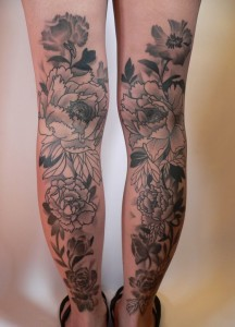 Floral Back Of The Legs Tattoos