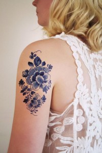 Floral Triceps Tattoo