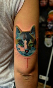 Lovely Cat Triceps Tattoo
