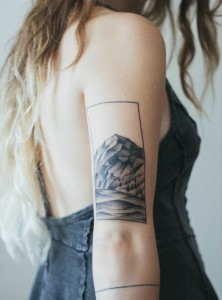 Mountain Scape Triceps Tattoo