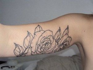 Roses Triceps Tattoo