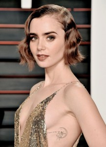 Lily Collins Side Body Tattoo