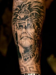 American Indian Chief Arm Tattoo
