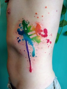 Equality Sign Body Tattoo