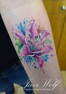 Exquisite Lily Forearm Tattoo