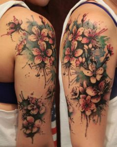 Lovely Orchid Arm Tattoo