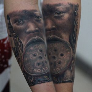 African People Arm Tattoo