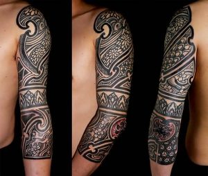 Gorgeous African Tribal Sleeve Tattoo