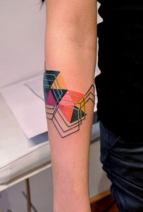 Connecting Triangles Arm Tattoo