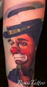 Lonely Clown Arm Tattoo