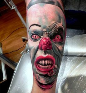 Pennywise Clown Calf Tattoo