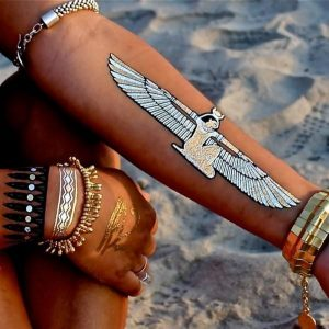 Silver Isis Forearm Tattoo
