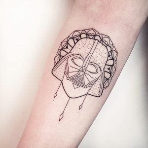 Sophisticated Darth Vader Forearm Tattoo
