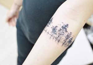 Forest Arm Band Tattoo
