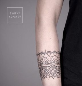 Lovely Baroque Arm Band Tattoo