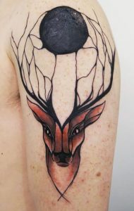 Mighty Stag Arm Tattoo