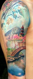 Townscape Arm Tattoo