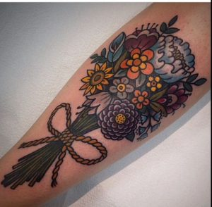 Traditional Bouquet Tattoo