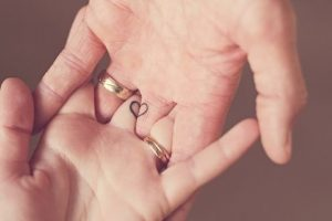 Connecting Heart Finger Tattoos