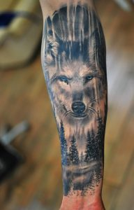 Wild Forest Forearm Tattoo