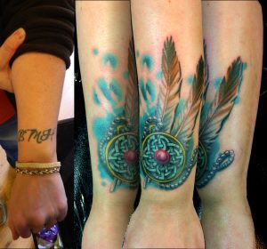 Celtic Piece Cover Up Arm Tattoo