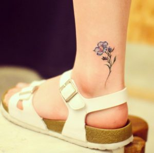 Gorgeous Flower Ankle Tattoo