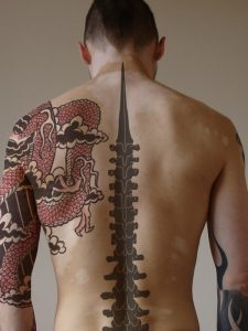 Spinal Cord Tattoo