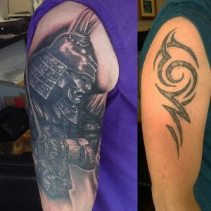 Warrior Cover Up Arm Tattoo
