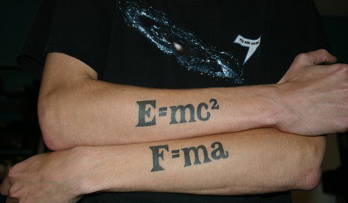 2nd Law of Motion Forearm Tattoo