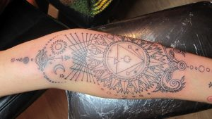 Map of the Universe Tattoo