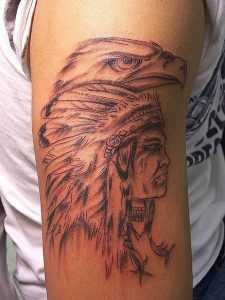 Sketchy Indian Arm Tattoo