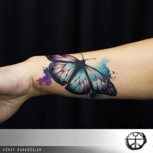 Sophisticated Butterfly Wrist Tattoo