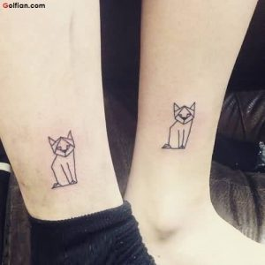 Standing Cat Ankle Tattoo