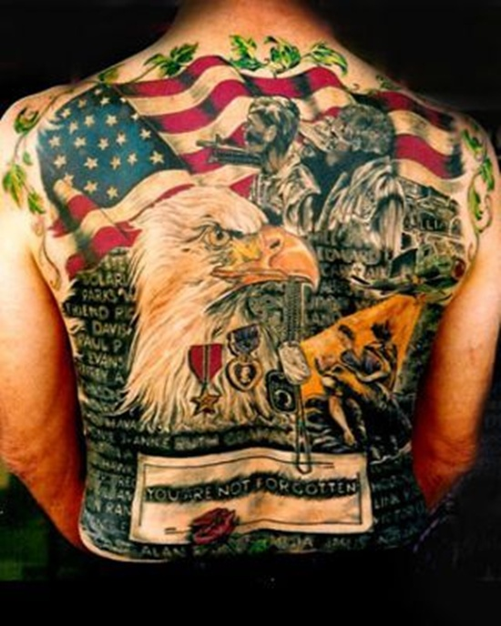 You Are Not Forgotten Full Back Tatoo
