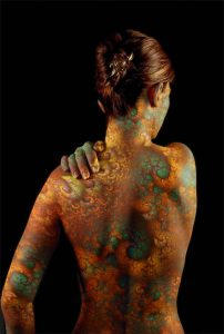 Colorful Fractals Full Body Tattoo