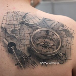 Complete Mapping Tools Shoulder Blade Tattoo