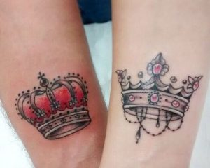 King and Queen Crowns Wrist Tattoos