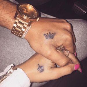 Small Matching Crown Tattoos