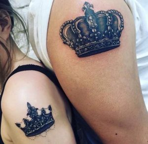 Sophisticated Crown Arm Tattoo