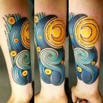 A Take on Starry Night Forearm Tattoo