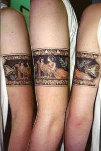 Egyptian Mother and Child Arm Band Tattoo