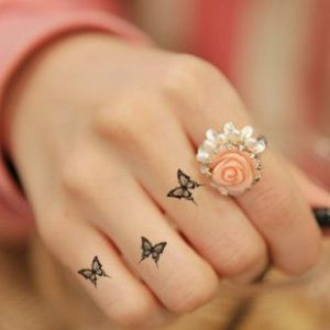 Finger Small Butterfly Tattoos