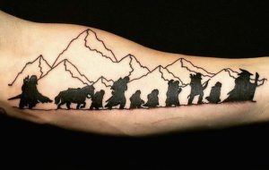 LOTR The Unexpected Journey Forearm Tattoo