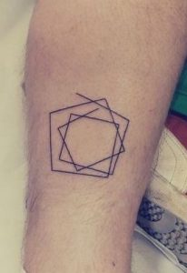 Rolling Squares Forearm Tattoo