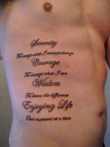 Another Quote for Good Life Side Tattoo