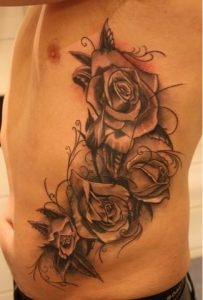 Four Roses Side Tattoo