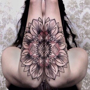 Interconnecting Dotwork Floral Arm Tattoos