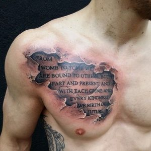 Part of a Statement Chest Tattoo