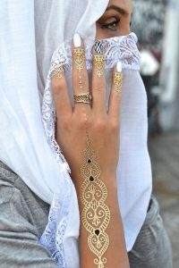 Sophisticated Finger Band Tattoos