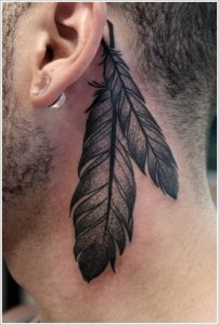 Two Feathers Tattoo